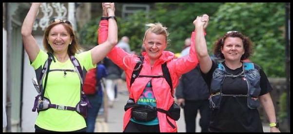 Pam and her running team raising cash