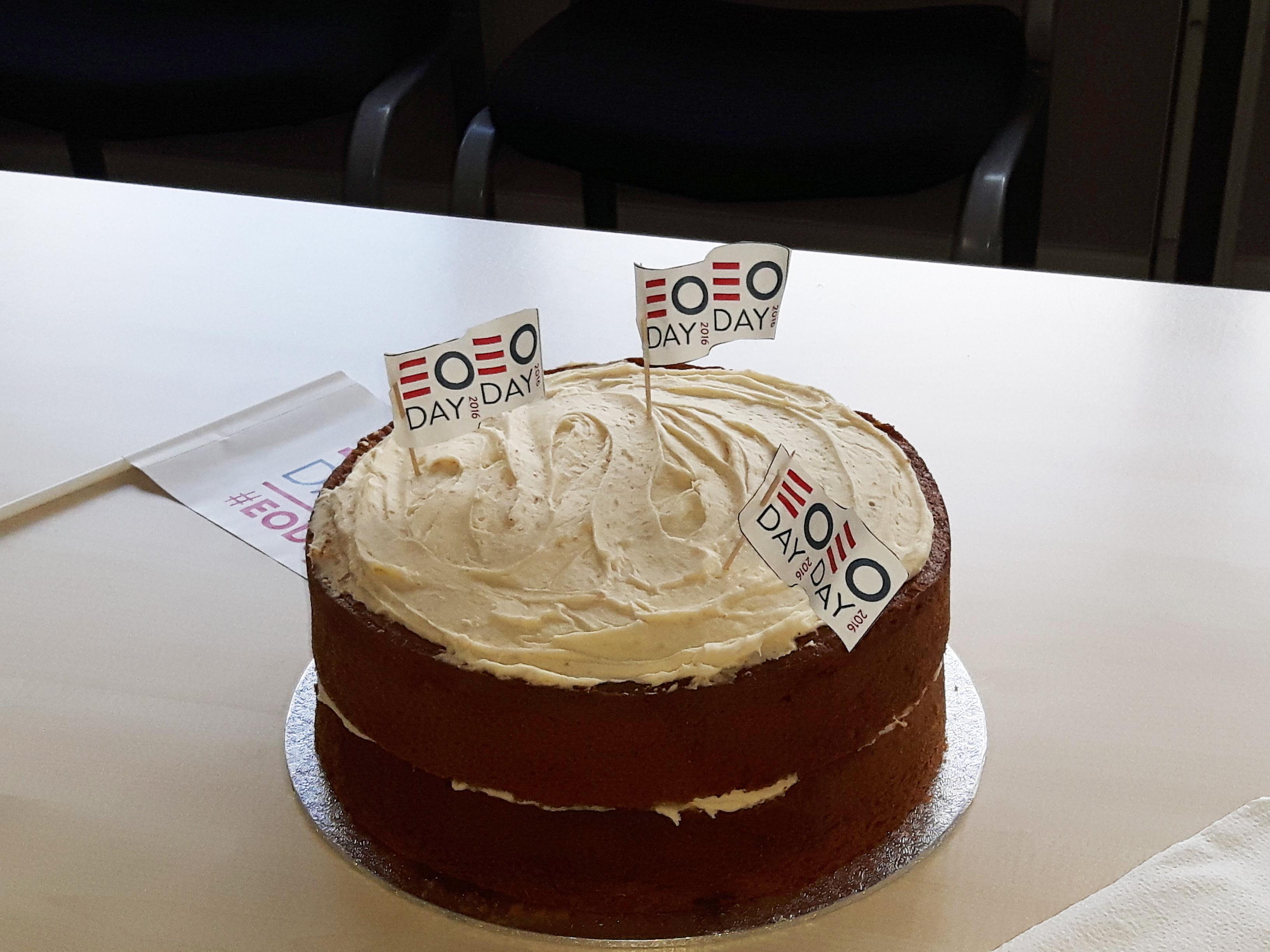 E O day celebration cake