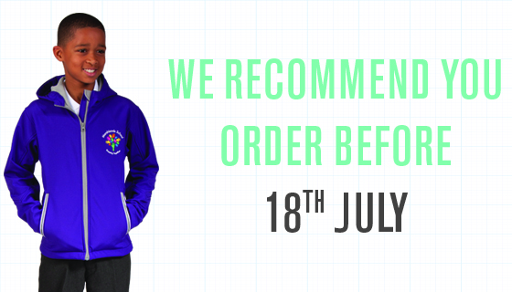 School uniform order deadline for schools in Scotland.