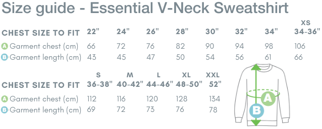 School Trends School Uniform - Essential V-Neck Sweatshirt