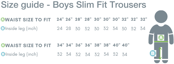 School Trends School Uniform - Boys Slim Fit Trousers