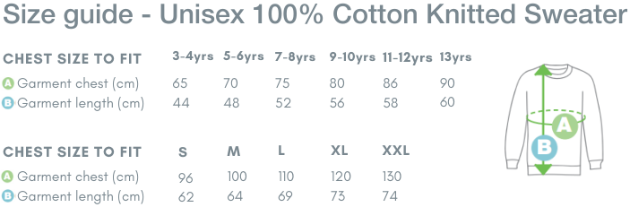 School Trends School Uniform - Unisex 100% Cotton Knitted Sweater