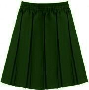 Main uniform Bottle green skirt - Box Pleat