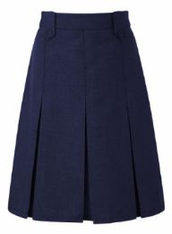 Pull on inverted pleat skirt
